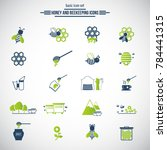 beekeeping  apiculture icons.... | Shutterstock .eps vector #784441315