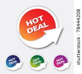 hot deal   vector eps10 | Shutterstock .eps vector #78444208