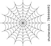 spider web icon design raster... | Shutterstock . vector #784444492