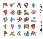 maps and navigation flat design ... | Shutterstock .eps vector #784454536