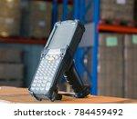 bluetooth barcode scanner    Shutterstock . vector #784459492