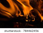 flames caused by combustion... | Shutterstock . vector #784462456