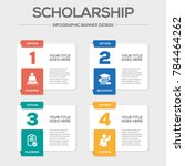 scholarship infographic icons | Shutterstock .eps vector #784464262