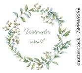 floral wreath. botanical... | Shutterstock . vector #784469296