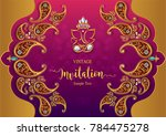 indian wedding invitation... | Shutterstock .eps vector #784475278