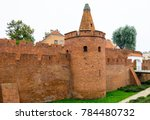 barbican in warsaw with houses... | Shutterstock . vector #784480732