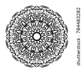 decorative round mandala.... | Shutterstock .eps vector #784483282