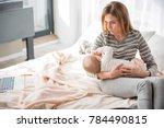 hush little baby. troubled... | Shutterstock . vector #784490815