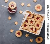 Cookies With Raspberry Jam On A ...