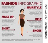 fashion infographic with girl... | Shutterstock . vector #784494922