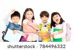group of happy children ... | Shutterstock . vector #784496332