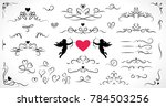 collection of flourish elements ... | Shutterstock .eps vector #784503256
