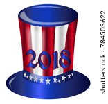 a top hat with a star spangled... | Shutterstock .eps vector #784503622