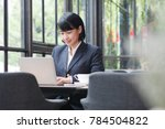 asian business woman working in ... | Shutterstock . vector #784504822