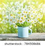 bouquet of beautiful daisies in ... | Shutterstock . vector #784508686