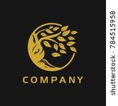 tree oak branch logo | Shutterstock .eps vector #784515958