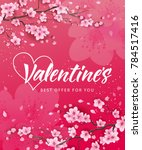 valentines best offer lettering | Shutterstock .eps vector #784517416