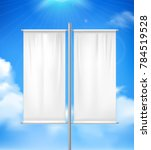 white blank realistic double... | Shutterstock . vector #784519528