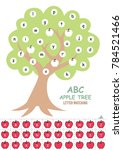 abc apple tree letter matching