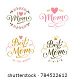 set of mother's day decorations.... | Shutterstock .eps vector #784522612