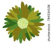 gerbera daisy isolated. vector... | Shutterstock .eps vector #784534108