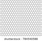 Hexagon Seamless Pattern. Black ...