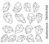 diamond 3d shapes. natural... | Shutterstock . vector #784541968