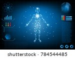 abstract futuristic technology... | Shutterstock .eps vector #784544485
