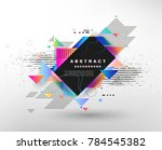 abstract fantastic background ... | Shutterstock .eps vector #784545382