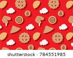 chinese new year goodies... | Shutterstock .eps vector #784551985