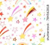 watercolor textured seamless... | Shutterstock . vector #784562818