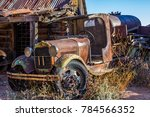 Vintage Rusted Tanker Truck In...