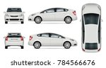 white car vector mock up for... | Shutterstock .eps vector #784566676
