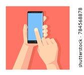 hand holding smartphone... | Shutterstock .eps vector #784568878
