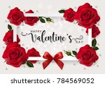 valentine's day greeting card... | Shutterstock .eps vector #784569052
