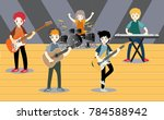 musicians and musical... | Shutterstock .eps vector #784588942