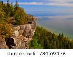 limestone cliff face along the... | Shutterstock . vector #784598176