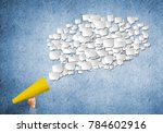 close of man making... | Shutterstock . vector #784602916
