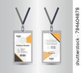 yellow letter head template | Shutterstock .eps vector #784604878
