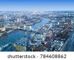 London City Skyline  Aerial View