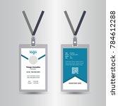 blue template staff or employee ... | Shutterstock .eps vector #784612288