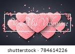 romantic dark background for... | Shutterstock .eps vector #784614226