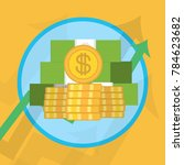 profit or financial growth... | Shutterstock .eps vector #784623682