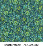 green   turquoise seamless... | Shutterstock .eps vector #784626382