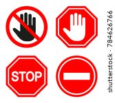 set of prohibiting sign. signs... | Shutterstock .eps vector #784626766
