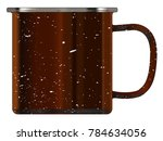 a typical dirty coloured tin... | Shutterstock .eps vector #784634056
