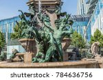 fountain with a name... | Shutterstock . vector #784636756