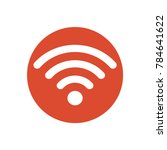 wifi icon . | Shutterstock .eps vector #784641622