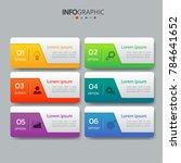 infographics design template 3d ... | Shutterstock .eps vector #784641652