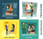 subway people concept icons set ... | Shutterstock . vector #784643488